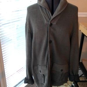 Lucky brand men's cardigan green size large